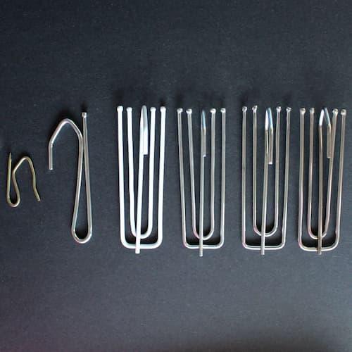 Рожковые крючки для крепления штор к карнизам