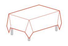 Прямоугольные скатерти 93*150 см