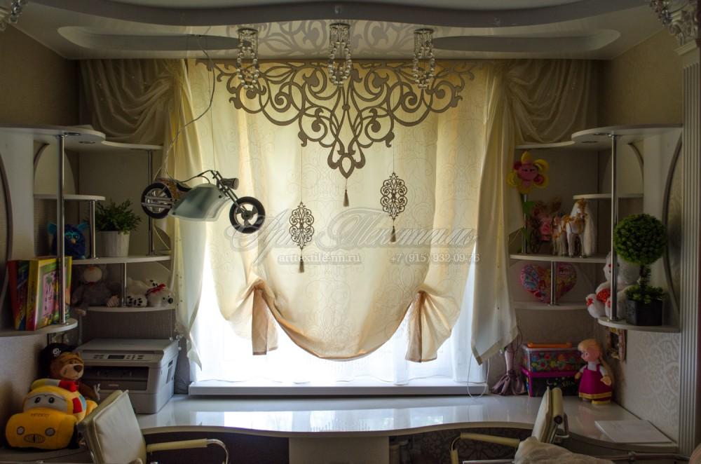 Ажур, украшенный стразами, австрийская штора, бусы - нити