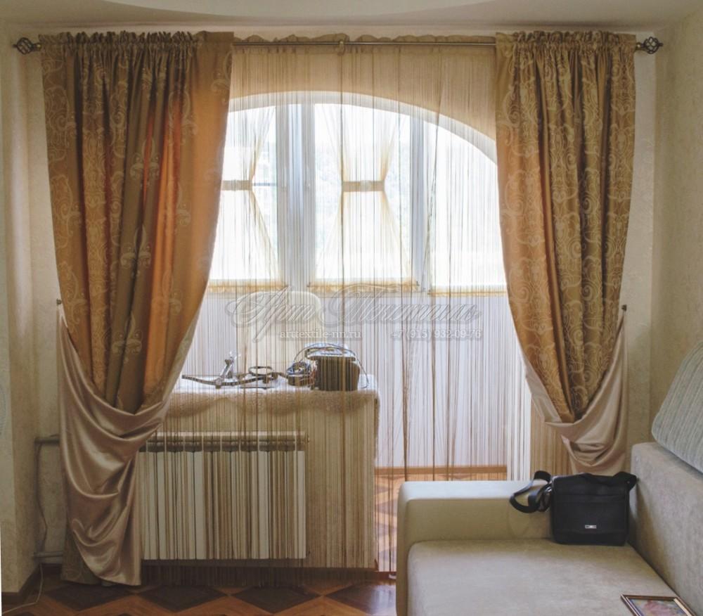 Оформление гостиной-лоджии