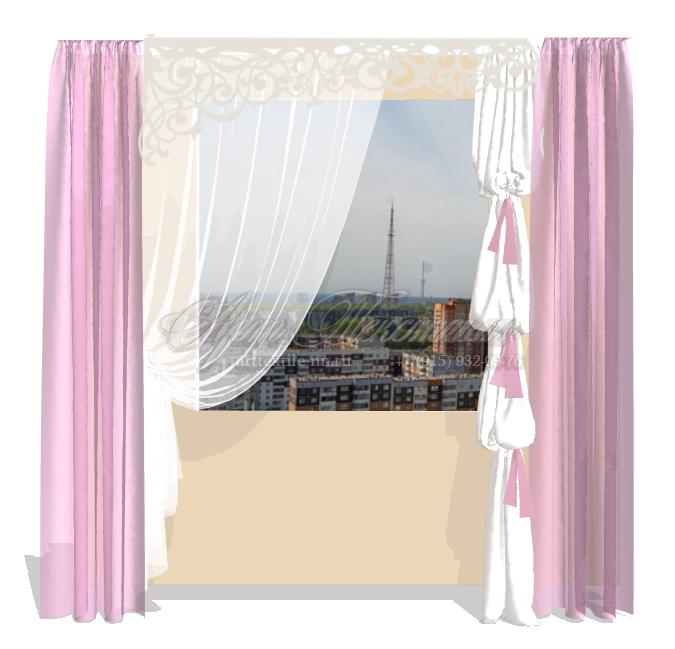 Предварительный эскиз штор для детской комнатыПредварительный эскиз штор для детской комнаты
