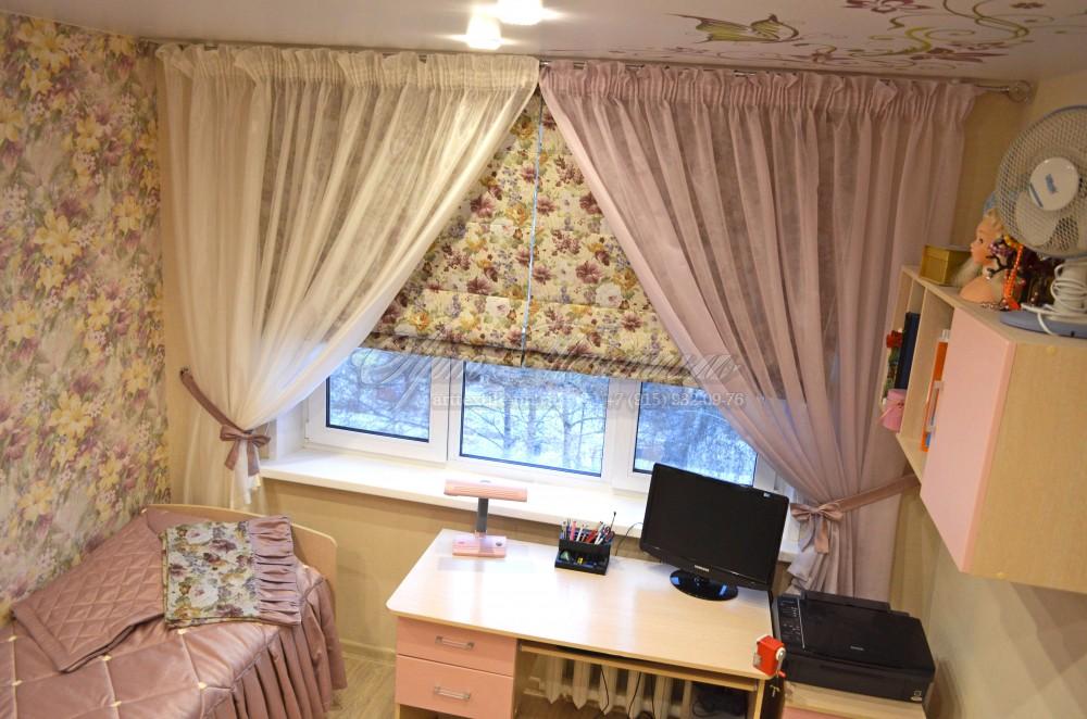 Римские шторы для детской комнаты + покрывало