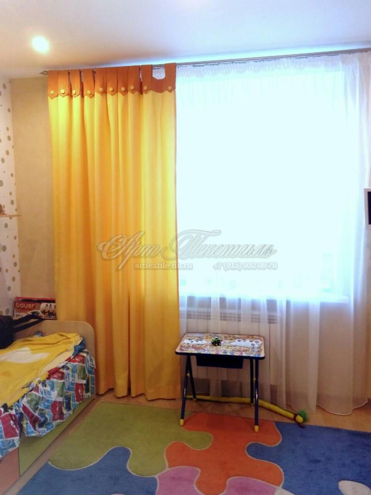 Шторы для детской комнаты на петлях с пуговицами.Шторы для детской комнаты на петлях с пуговицами.