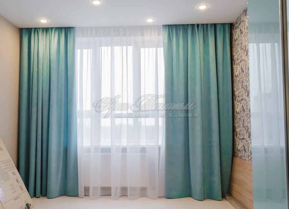 Шторы для гостиной, мятный цветШторы для гостиной мятного цвета