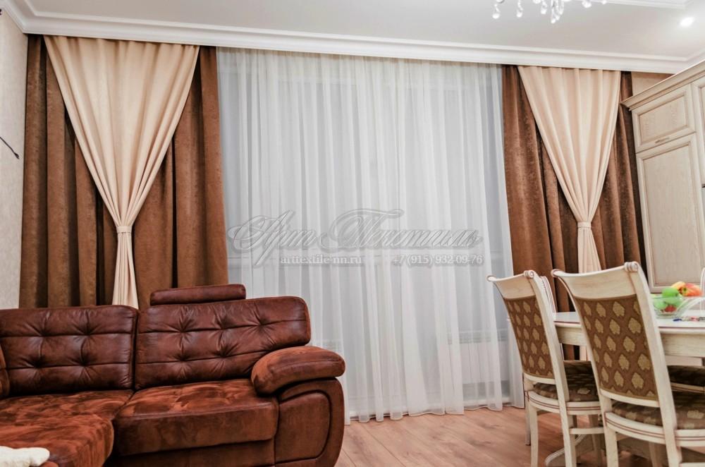 """Шторы для гостиной в стиле """"современная классика""""Шторы для гостиной в стиле """"современная классика"""""""