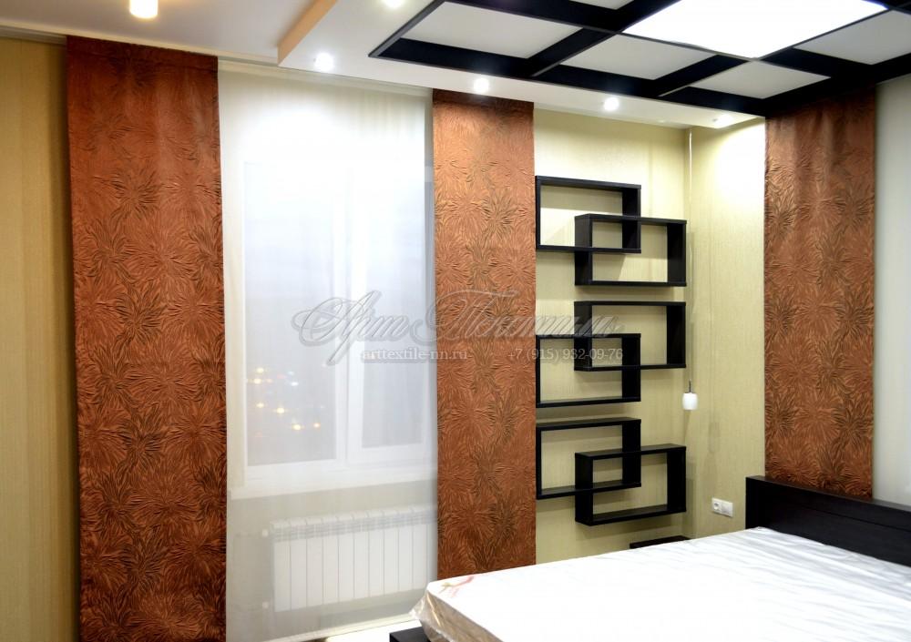 Шторы для спальни. Японские панели (имитация)