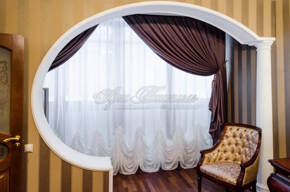 Шторы для спальни, серо-фиолетовый цвет