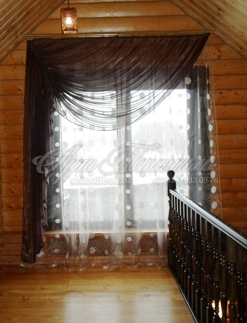 Декоративные тюли для прихожей загородного дома