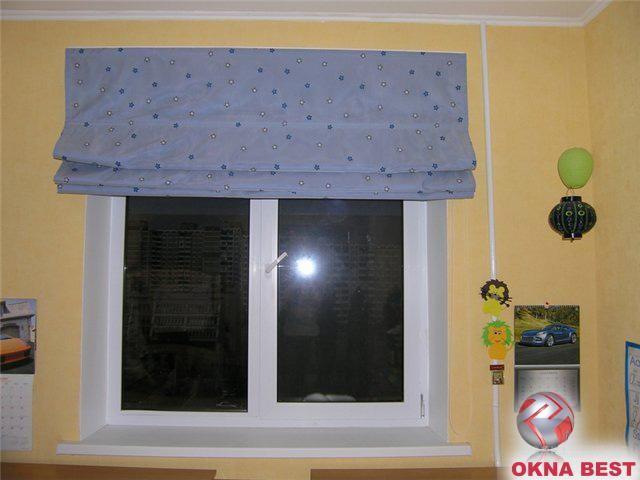 Римские шторы15 голубой