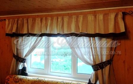 Декоративные шторы для коттеджа.