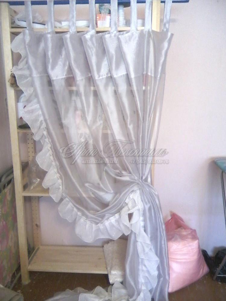 Воздушная штора для спальни девочки