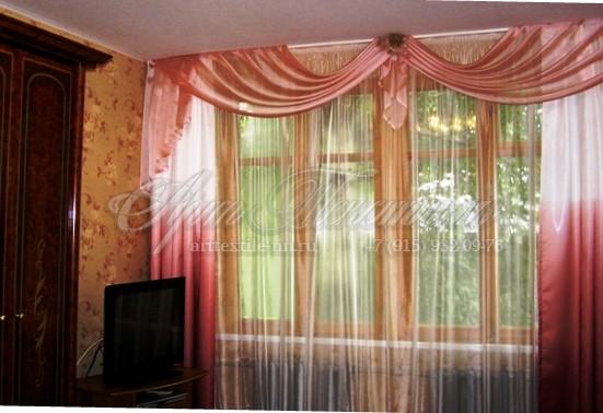 Лёгкие шторы для спальни