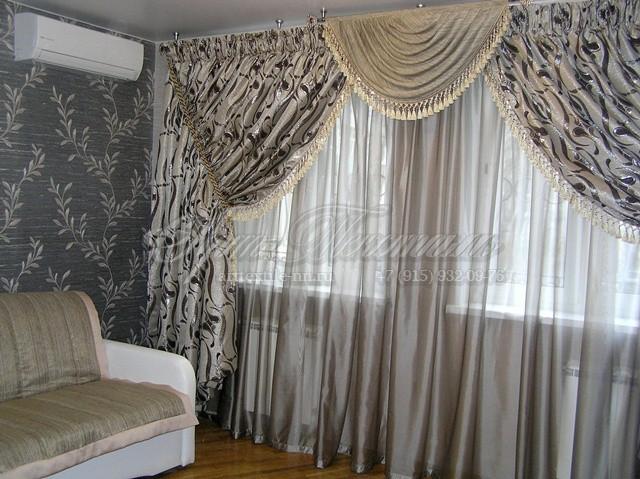 Итальянские шторы с кистями