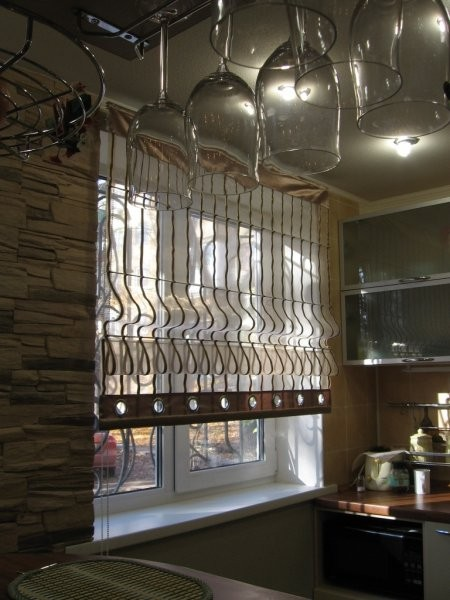 Римские шторы12 органза, люверсы, полоса