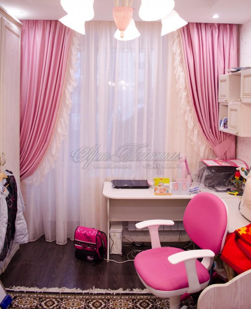 Розовая спальня для девочки.