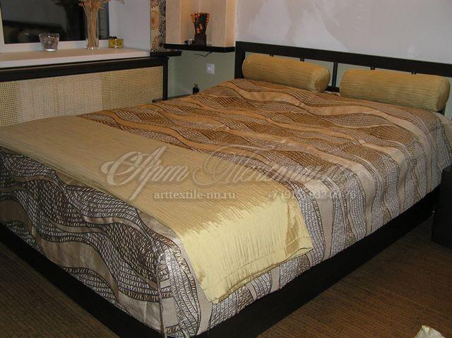 Покрывало для спальни+плед+подушки