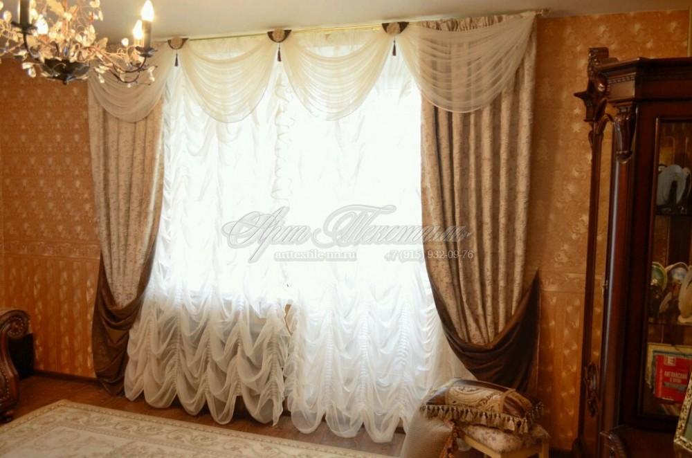 Портьеры с ламбрекеном в классическом стиле.Портьеры с ламбрекеном в классическом стиле