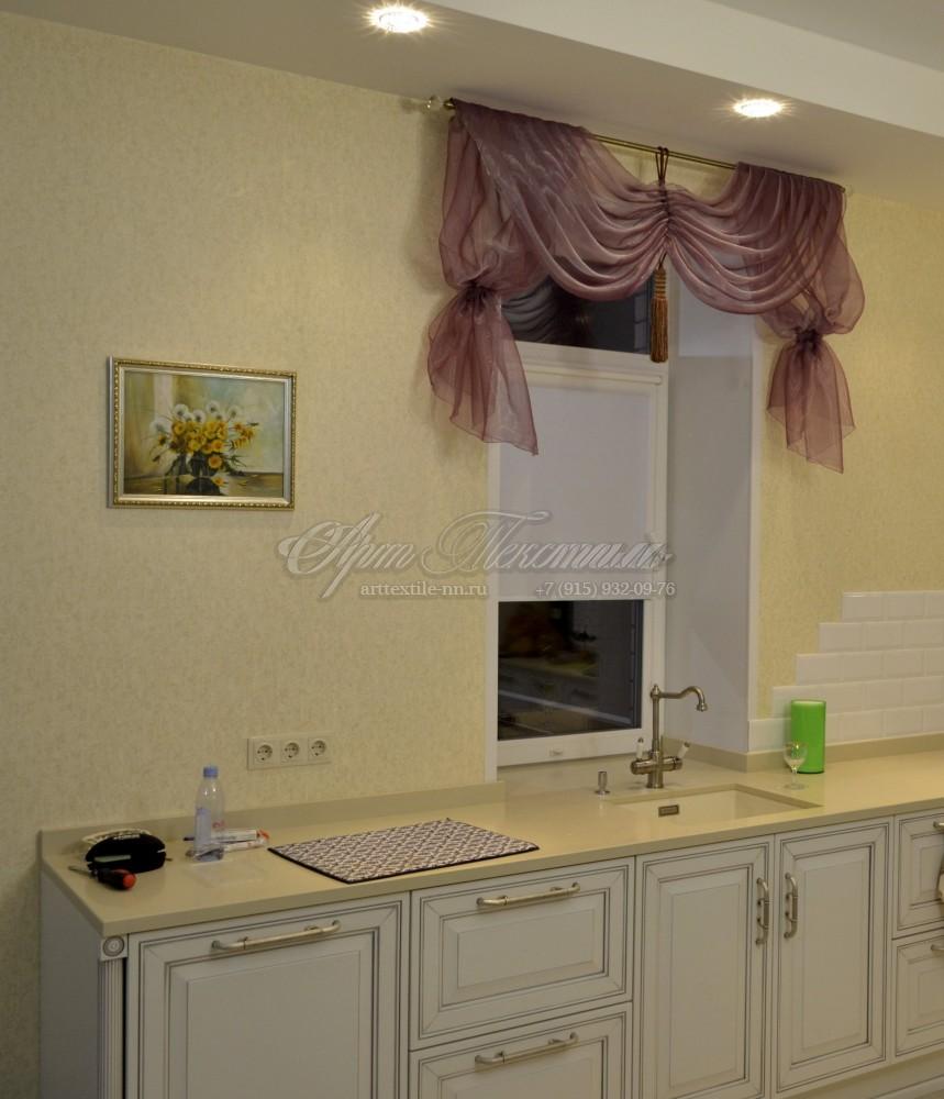 Оформление оконного проема на кухне, ламбрекенОформление оконного проема на кухне, ламбрекен