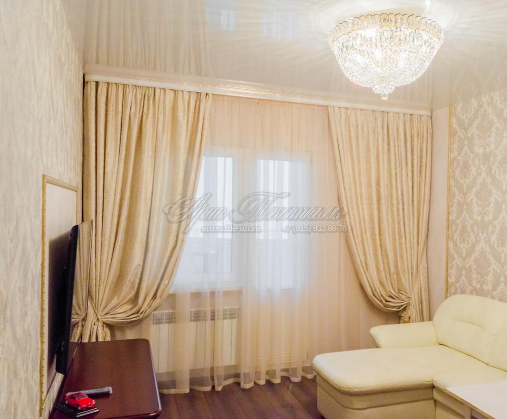 Шторы для гостиной в классическом стилеШторы для гостиной в классическом стиле