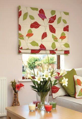 Римские шторы19 яркий рисунок цветы