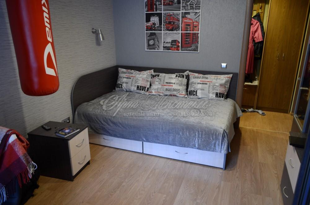 Покрывало и подушки в комнату юноши