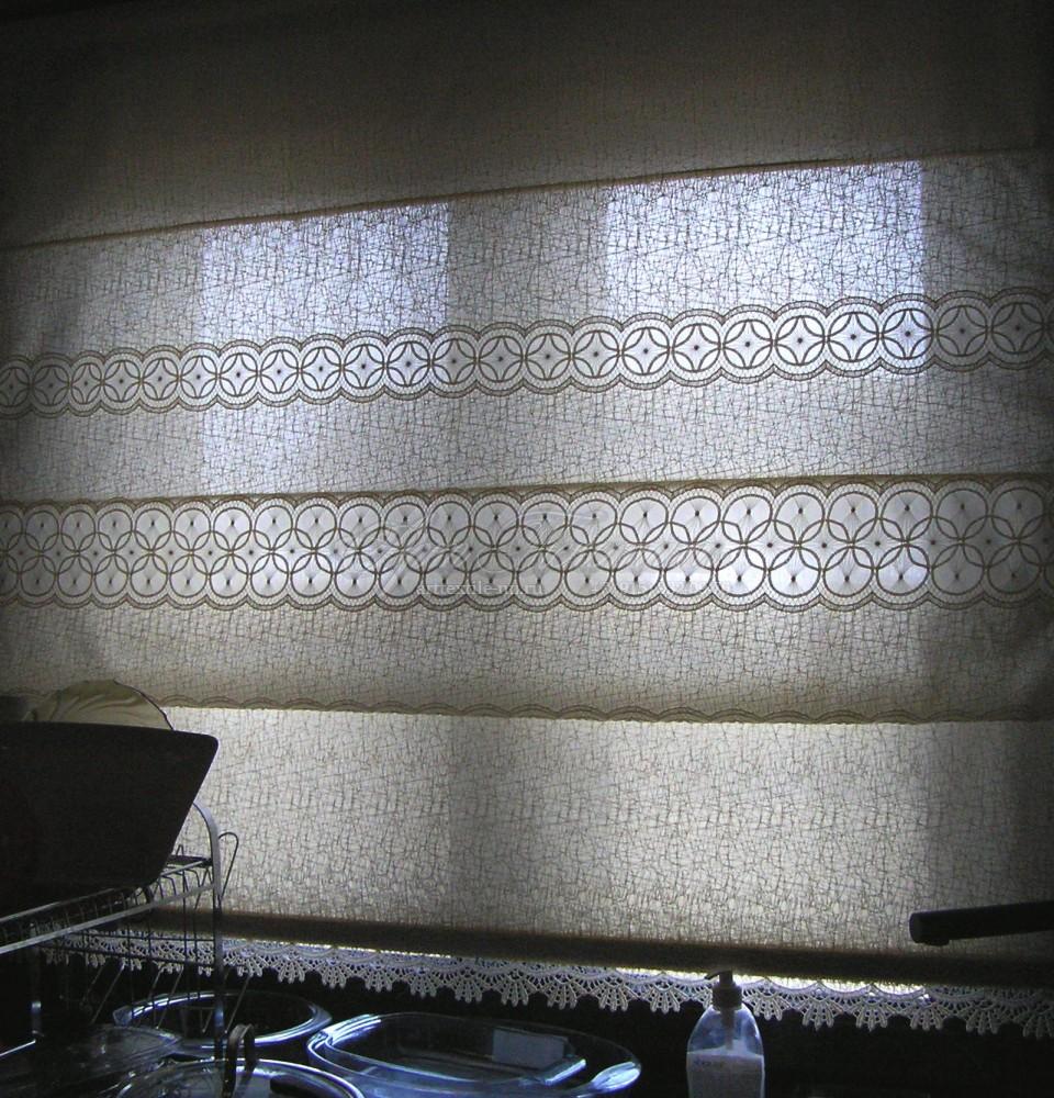 Римская штора для кухни, кружевная для загородного дома