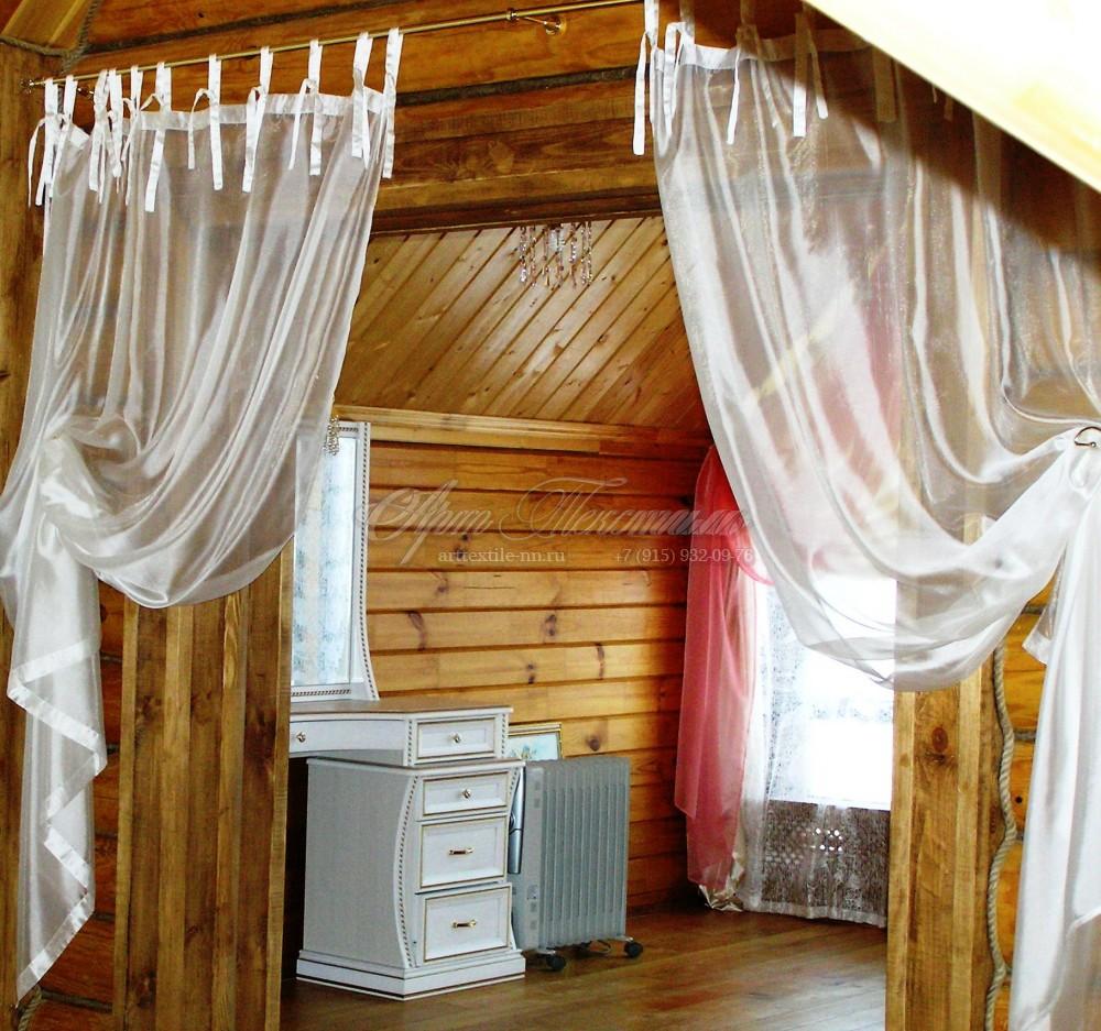 Декоративные тюли для деревянного дома.