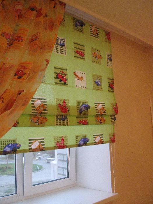 Римские шторы28 зеленый для детской