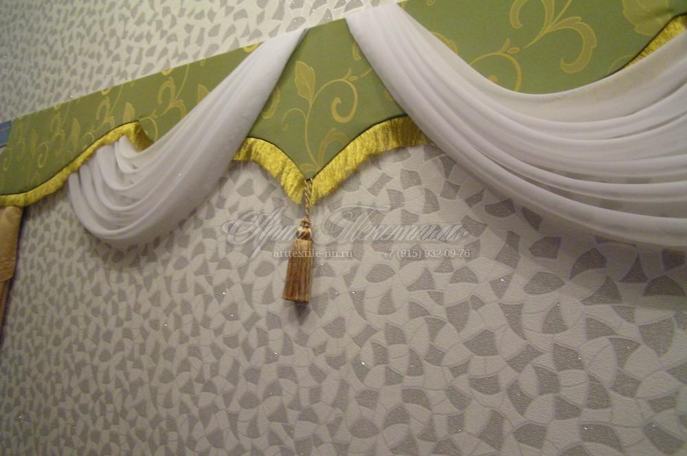 """Ламбрекен для зала в """"восточном стиле"""".Пошив штор."""