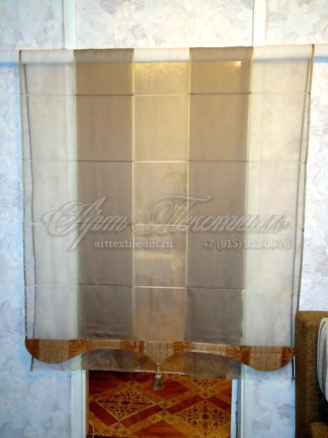 Римская штора в работе.Пошив штор.