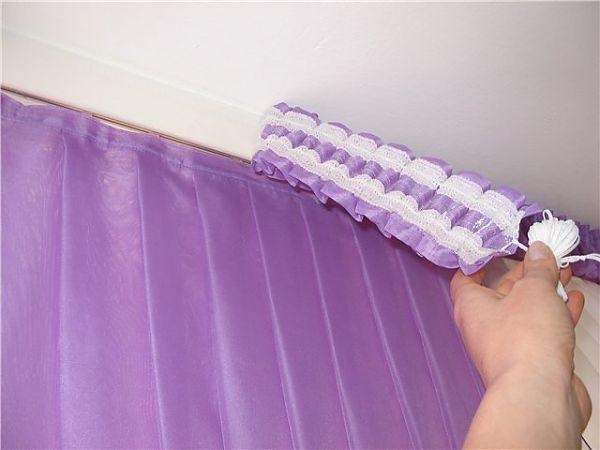 Как сшить шторы на шторной ленте своими руками мастер класс