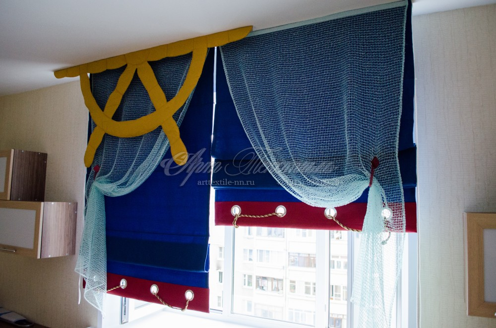 Японские шторы для детской