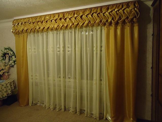 Как сшить шторы с буфами