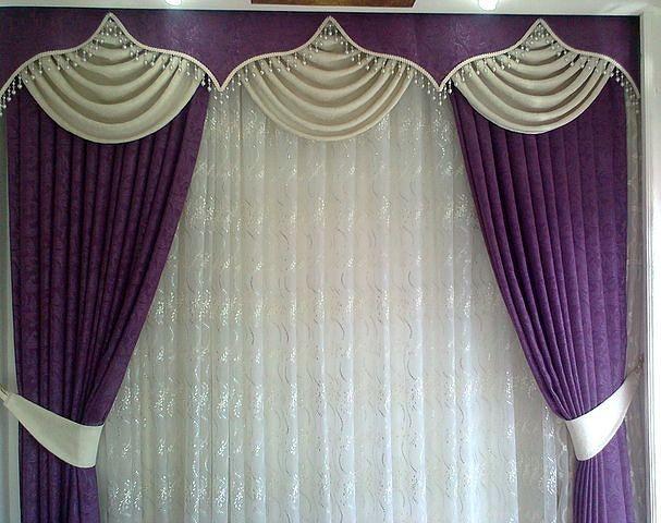 Дизайн штор для окна и двери